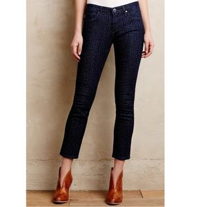 Anthro AG Stevie Ankle Jeans 28R Dotted skinny